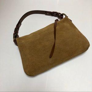 GAP Brown Suede & Leather Mini Hobo Bag